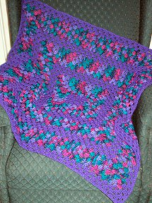 FREE Crocheted Granny Square Blanket
