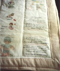 Gennys Quilt with sampler