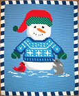 Snowman and Friends Crochet Afghan