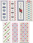 Cross Stitch Vinyl Bookmarks