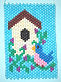Bluebird Birdhouse Beaded Banner