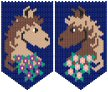 Matching Horse Beaded Banners