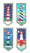 4 Seasons Lighthouses Beaded Banners