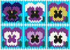 6 Beaded Pansy Coasters