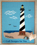 LIGHTHOUSE CROCHET PATTERN AFGHAN GRAPH #049 | crochetpatternsetc