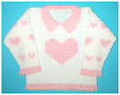 Crochet Sweet Heart Sweater