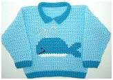 Crochet Whale Sweater