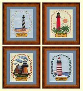 Cross Stitch 4 Seasons Lighthouses