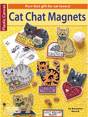 Cat Chat Magnets Plastic Canvas Book