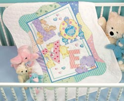 Baby Hugs Zoo Alphabet Baby Stamped Quilt Kit