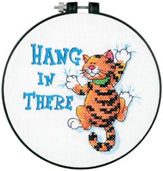 Hang in There Learn to Cross Stitch Kit