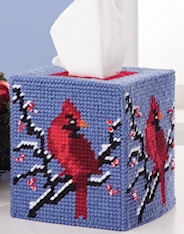 Plastic Canvas Mary Maxim Cardinal Tissue Topper Kit