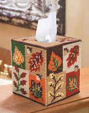 Plastic Canvas Mary Maxim Fall Tissue Topper Kit