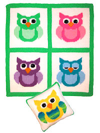 Knit Happy Baby Owls Set