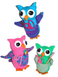 Knit Owl Pocket Pals