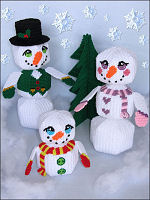 Plastic Canvas Amigurumi Snow Family