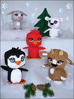 Plastic Canvas Amigurumi Winter Friends