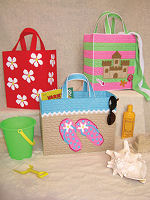 Plastic Canvas Beach Totes