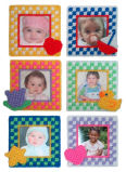 Plastic Canvas Bright Baby Gingham Frames