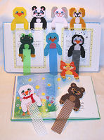 Plastic Canvas Hug-a-Buddy Bookmarks