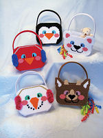 Plastic Canvas Winter Buddy Totes